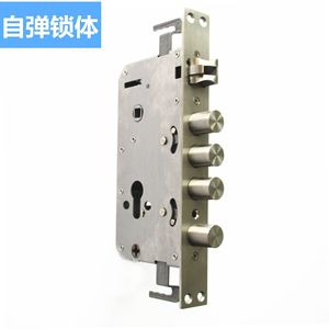 Fully Automatic Mute Self-Elastic Fingerprint Lock Lock Body 30*240 Stainless Steel Double Live Double Quick Machinery Hydraulic