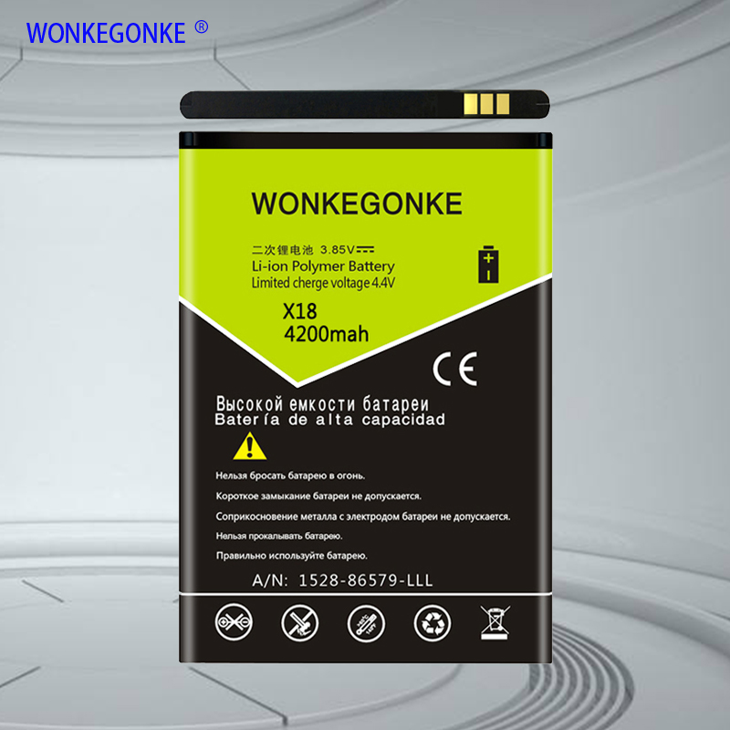 WONKEGONKE For <font><b>Cubot</b></font> <font><b>X18</b></font> <font><b>Battery</b></font> Batterie Bateria High quality +tracking number image