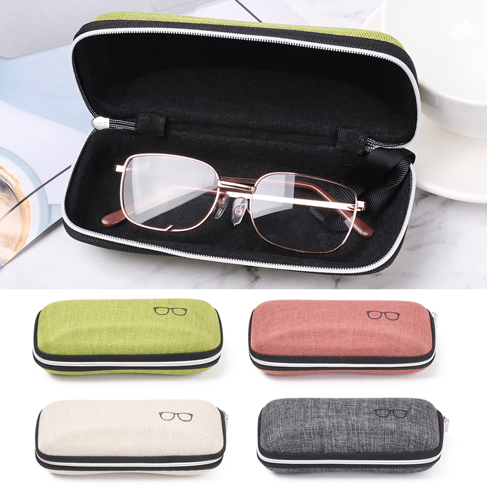 1pc Hot Sunglasses Box Glasses Pattern Eyewear Box  Zipper Closure Simple Style Portable EVA Glasses Protective Box New Fashion