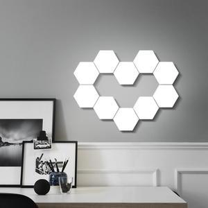 Image 4 - FAI DA TE Quantum Lampada LED Esagonale luce di Notte Della Lampada di Tocco Sensibile Modulare Magnetico Esagoni Creativo Lampada Da Parete Della Decorazione