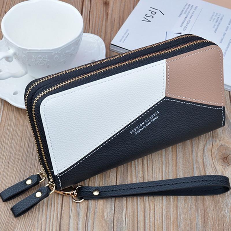 2020 Luxury Brand Leather Wallets Women Long Zipper Coin Purses Tassel Design Clutch Wallets Female Money Bag Credit Card Holder