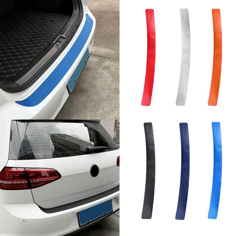 Универсальная задняя защитная накладка для багажника, наклейка для автомобиля, накладка на задний бампер, защита от царапин, наклейка на ленту, 3D пленка из углеродного волокна|Наклейки на автомобиль|   | АлиЭкспресс
