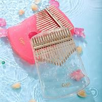 17 transparent crystal key Kalimba Mbira full body instrument flea piano African Carinba high quality Abs finger piano