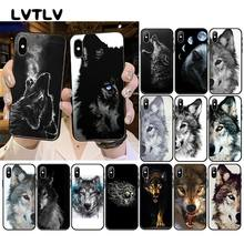 Lvtlv animal irritado lobo rosto caso de telefone para iphone 11 pro xs max 8 7 6 s plus x 5 5S se xr(China)