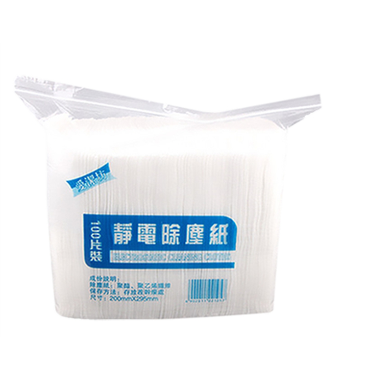 100Pcs Disposable Electrostatic Dust Removal Mop Paper Home Kitchen Bathroom Cleaning Cloth