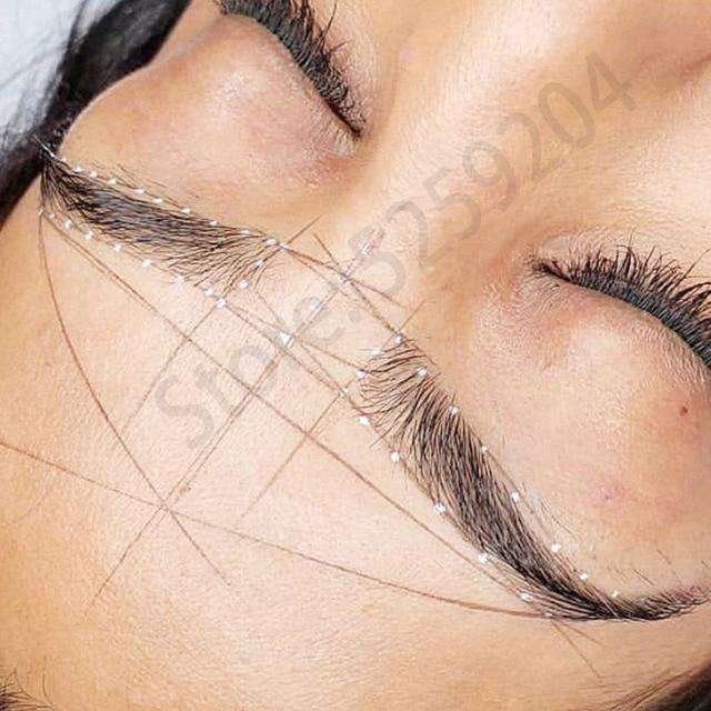 Professional Microbalding Line Maker Eyebrow Ruler Semi-permanent bow arrow line ruler majon design auxiliary eyebrow tattoo set 1