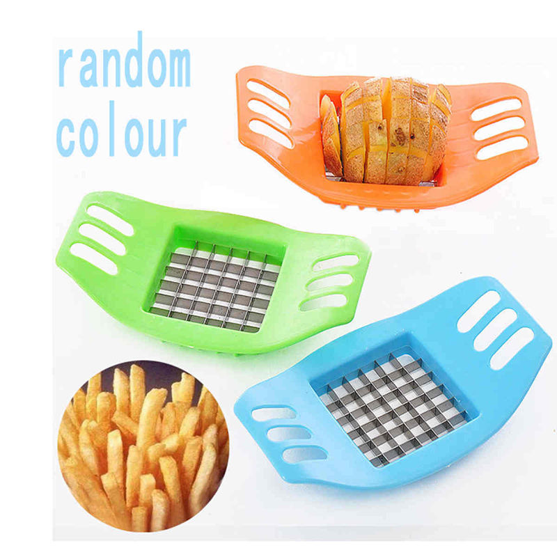 Familysky ABS Stainless Steel Potato Cutter Slicer Chopper Kitchen Shredders Cooking Tools Gadgets Kitchen Tools 4