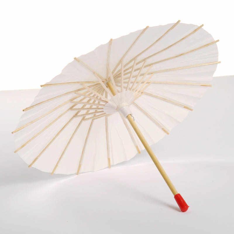 Carta oleata Ombrello Bianco Cina Tradizionale Puntelli di Ballo Ombrelloni Fatto A Mano Decorazioni Portatile Creativo Regalo Femminile-30