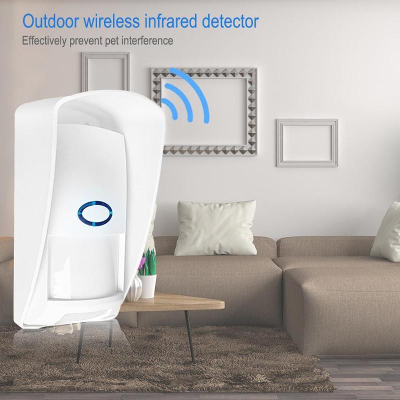 433Mhz ペット免疫屋外防水ワイヤレス PIR センサー赤外線モーション検出器アンチペットホームセキュリティ警報システム -