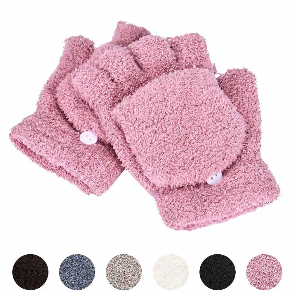 Fashion Winter Gloves Women Girls Hand Wrist Warm Winter Ladies Fingerless Gloves Mitten Ladies Half Finger Gloves Winter 10