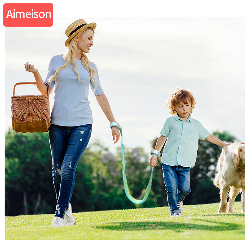 Aimeison New Upgrade Anti Lost Wrist Link Toddler Rope Leash Safety Harness Baby Strap Rope Children Walking Hand Belt Band