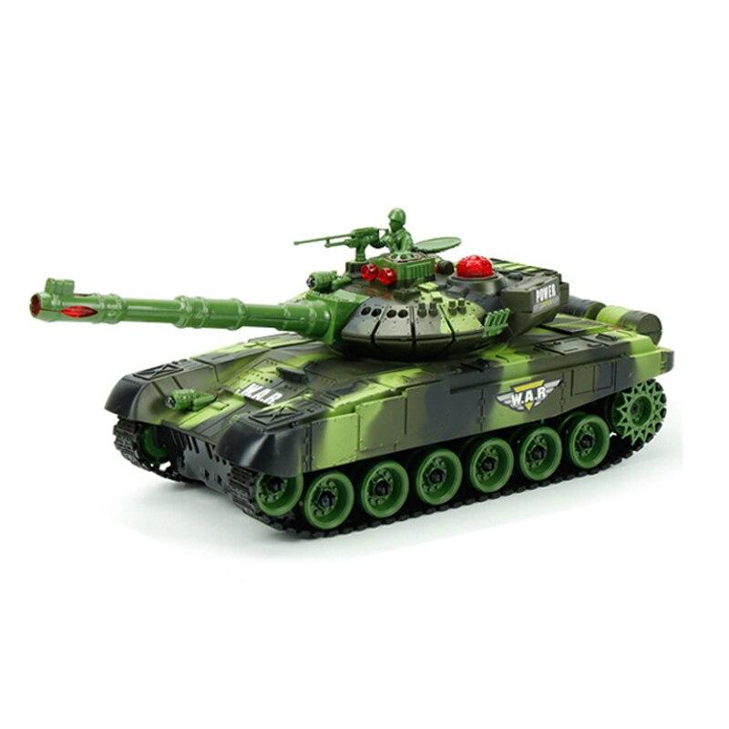 RC Tank Remote Control Radio Tactical Vehicle Main Battle Crawler Tank Car Model Military War Sound Electronic Boy Toys 2 colors