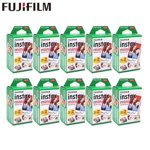 Image 1 - 20   200 Vellen Fuji Fujifilm Instax Mini 11 9 8 Films Witte Rand Films Voor Instant Mini 7S 25 50S 9 90 Camera Sp12 Fotopapier