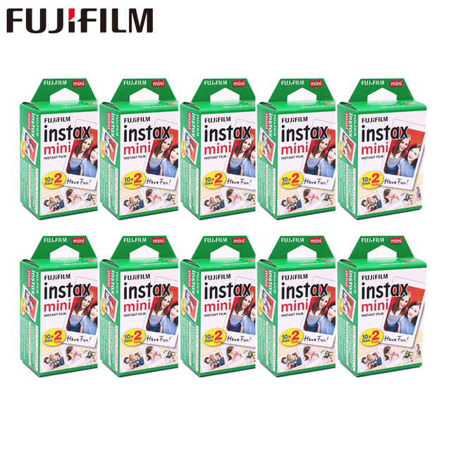 20   200 Vellen Fuji Fujifilm Instax Mini 11 9 8 Films Witte Rand Films Voor Instant Mini 7S 25 50S 9 90 Camera Sp12 Fotopapier