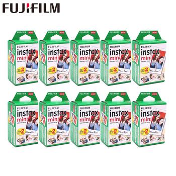20-200 arkuszy Fuji Fujifilm instax mini 9 8 filmów biała krawędź filmy do natychmiastowego mini 9 8 7s 25 50s 9 90 kamera Sp12 papier fotograficzny tanie i dobre opinie Natychmiastowa Film 100 sheets Instax White Film Plain White ISO 800 Daylight type (5500K) 86x54mm 3 39 x2 13 62x46mm 2 44 x1 81