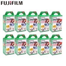 20   200 hojas Fuji Fujifilm instax mini 11 9 8 películas borde blanco películas instantánea mini 7s 25 50s 9 90 Sp12 de papel fotográfico
