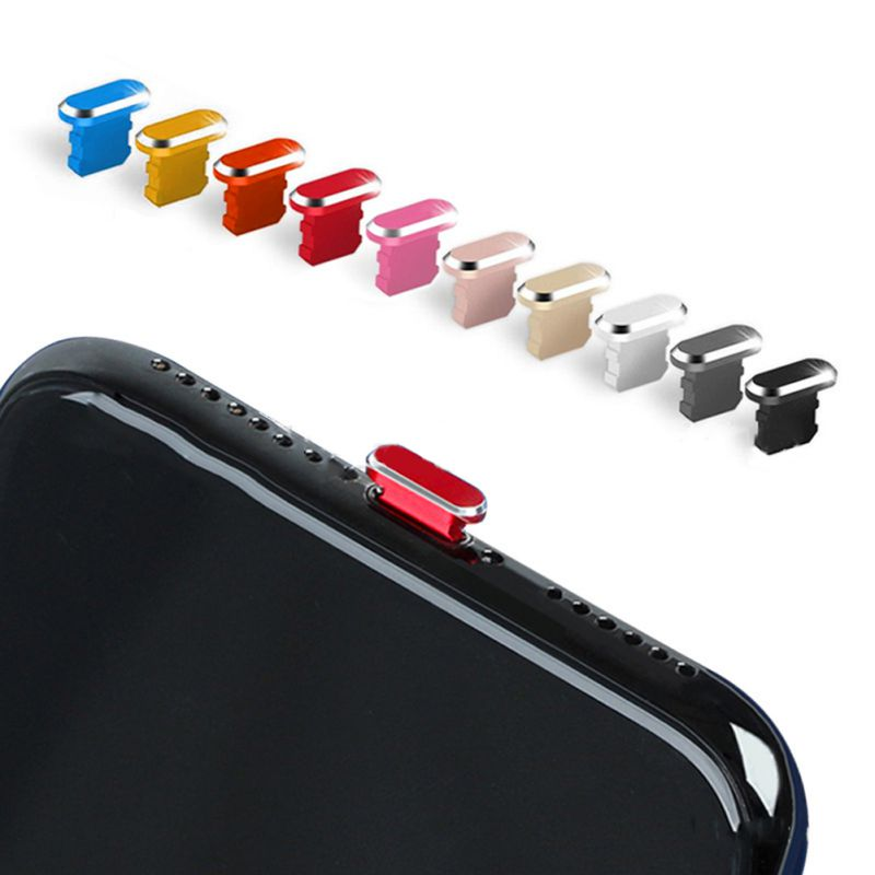 Puerto de carga para teléfono, 1/2/5/8 piezas, enchufe antipolvo, Conector de carga para iPhone 6/6s/7/8/X/XR/Xs Max/11/11 Pro/11Pro Max protección Conector USB C tipo C Universal para ordenador portátil, conector adaptador de fuente de alimentación 9 Uds., para Lenovo, Asus, Hp, Dell
