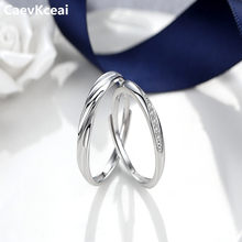 1PCS Lovers Ring 925 Sterling Silver Rings Korean Style Pure Silver Jewelry Simple Intertwined Love Couple Ring for Men Women(China)