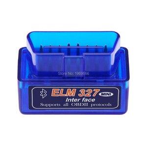 Image 2 - Super MINI ELM327 Bluetooth V1.5 ELM 327 Version 1.5 avec PIC18F25K80 puce OBD2 OBDII pour Android couple Scanner de Code automobile