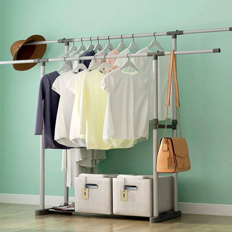 Clothes rack simple clothes rack landing provincial space bedroom home room storage rack for hanging clothes