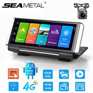4G Car Dashboard Camera WIFI GPS Dash Cam DVR Android 8.1 Navigation ADAS RAM 32G ROM FHD 1080P Dual Lens Car Video Recorder DVR
