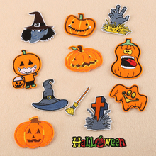 30Pcs Halloween Applique Patches Spider Kid Embroidered Patch Halloween Motif Iron on Kids Decal