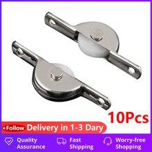Pulley-Wheel Sliding-Roller Drawer-Bin Door Single-Nylon 10pcs Cupboard
