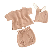 Suit Outwear Pocket Spring Pure-Clothes Knitted Girl 1set Baby-Boy 0-2-Years-Old Cotton