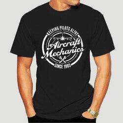 2019 Newest Letter Print Cartoon Aircraft Mechanics- Keeping Pilots Alive Stylish T-Shirt Design T-Shirt-2893D