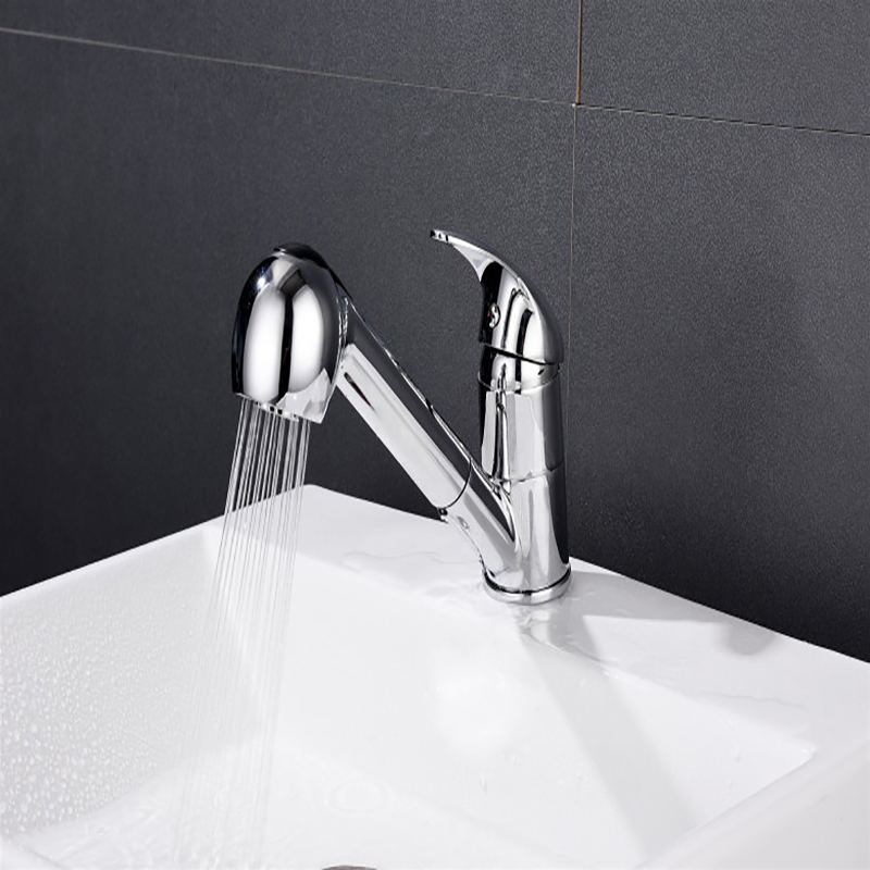 High Quality Pull Out Bathroom Basin Sink Faucet Single Handle Hot And Cold Water Crane Vessel Sink Mixer Tap