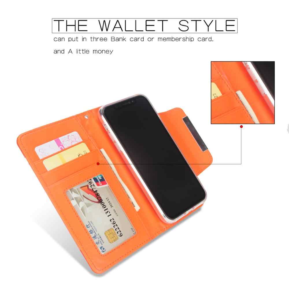 Multi กระเป๋าสตางค์การ์ดสำหรับ iphoneXR 2-in-1 Magnetic Flip แฟชั่นลิ้นจี่รูปแบบแยกฝาครอบสำหรับ iphoneX XS 11Pro MAX