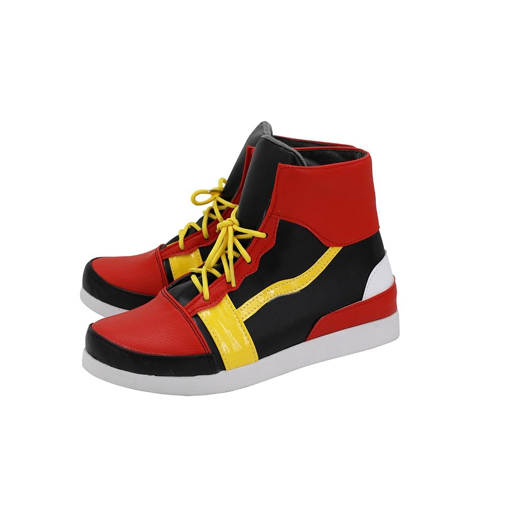 Hypnosis Mic Division Rap Battle Saburo Yamada Cosplay Boots Red Shoes Custom Made Any Size (4)