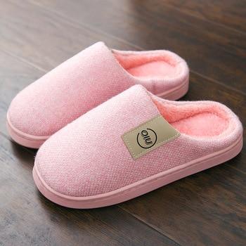 Fashion Women Slippers Winter Warm Fur Slippers Men Women Boys Girls House Shoes Flat Heel Home Indoor Bedroom Zapatilla Mujer 1