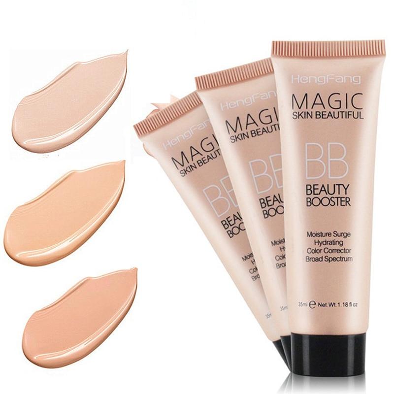 3 Colors Long Lasting BB Cream Face Brighten Base Foundation Waterproof Concealer Moisturizing Whitening Make Up TSLM2
