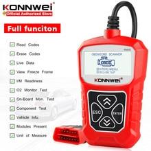 KONNWEI ماسح ضوئي عالمي KW310 OBD ODB2 لتشخيص السيارات ، قارئ رمز المحرك ، للسيارة ELM327
