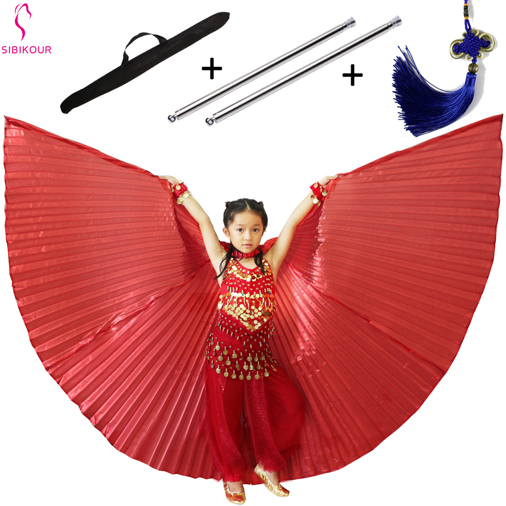 11 Colors Belly Dance Wings Isis Wings Bollywood Oriental Egypt Egyptian Wings Costume With Sticks Bag For Kids Children Adult