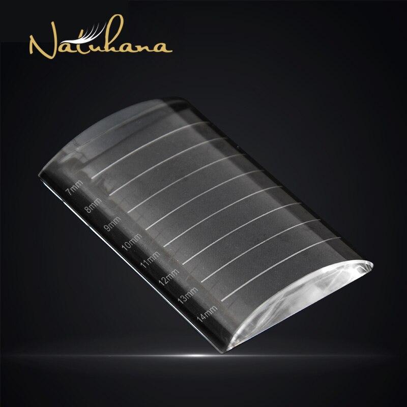 NATUHANA Transparent Eyelash Extension Crystal Glue Holder Pallet Ceramic False Lash Tile Eyelash Stand Makeup Tool