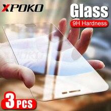 3Pcs HD กระจกนิรภัยสำหรับ Samsung Galaxy A3 A5 A7 J3 J5 J7 2017 หน้าจอสำหรับ Samsung a5 A3 A7 2018 9H ฟิล์มแก้ว