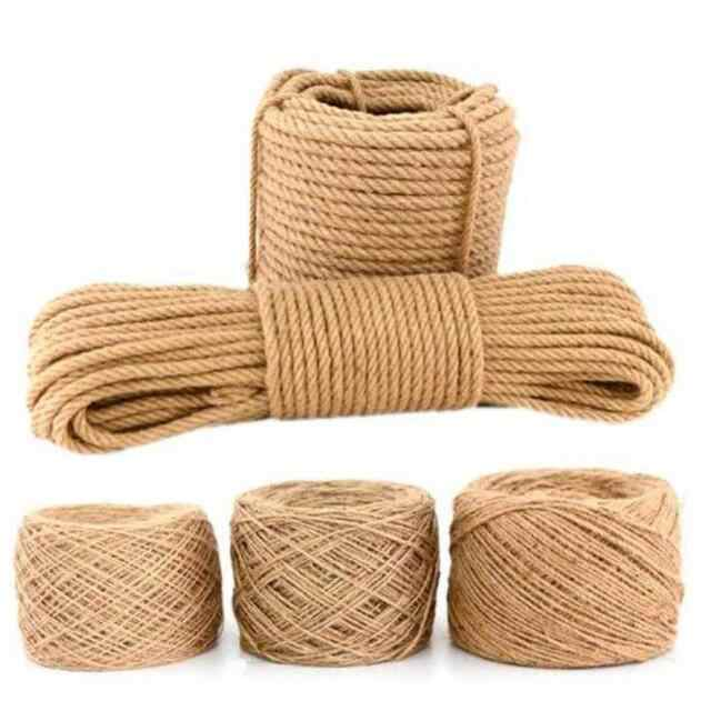 Jingdun Hemp Rope 20mm//24mm 5-10m Jute Ropes Twine Natural Hemp Cord Rustic Country Craft DIY Handmade Accessories Nordic Home Decor Cat Pet Scratching Ropes Size : 22MM//9M