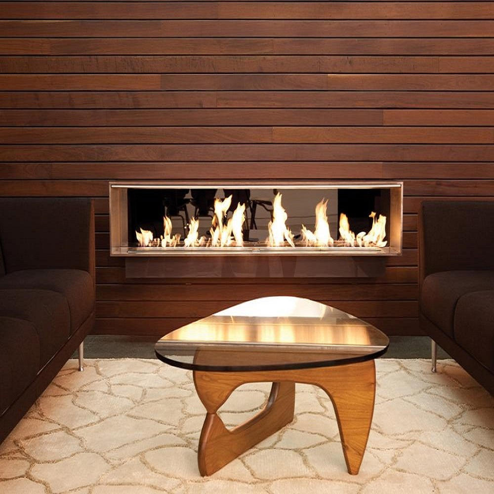 Hot Sale 72 Inches Biofuel Fire Place Modern Bioethanol Remote Fireplace