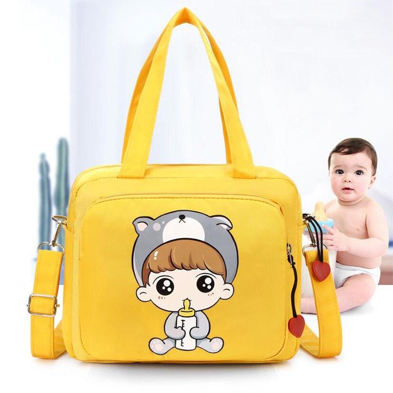 Baby Diaper Bag Diaper Storage Tote Bag Large Capacity Baby Mummy Travel Bag Double Handle Mother Baby Bag Shoulder Bag