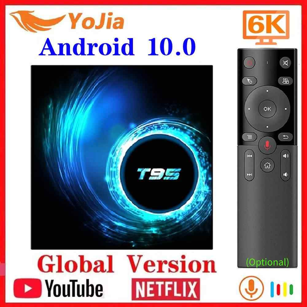 Android TV Box Android 10.0 MAX 4 go RAM 64 go ROM Allwinner H616 Quad Core 6K Wifi lecteur multimédia Google Youtube 2G/16G décodeur
