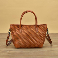 Luxury Handbags Women Tote Bags Designer 100% Cowhide Genuine Leather Corssbody Bags Hand Manual Woven Soft Handbags