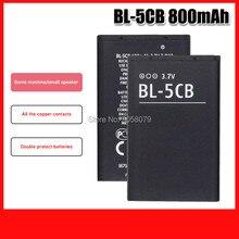 BL-5CB BL5CB Substituição 800mAh Bateria Para Nokia 1616 1800 c1-02 1280 E60 3600 3660 6620 6108 3108 2135 6086 6108 6230