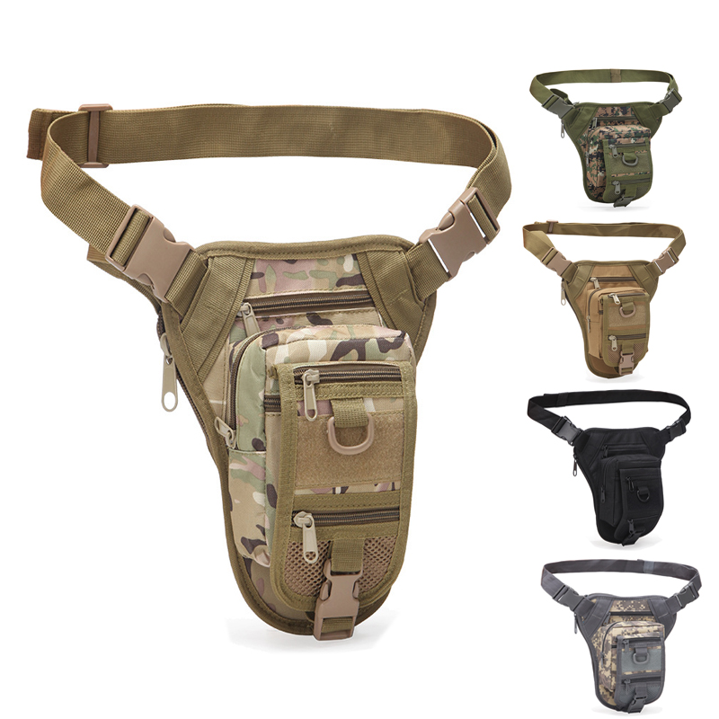 Outdoor Multifunctional Hiking Hunting Waist Bag Military Tactical Drop Leg Bag Hunting Tool Waist Pack Motorcycle Sports Bag