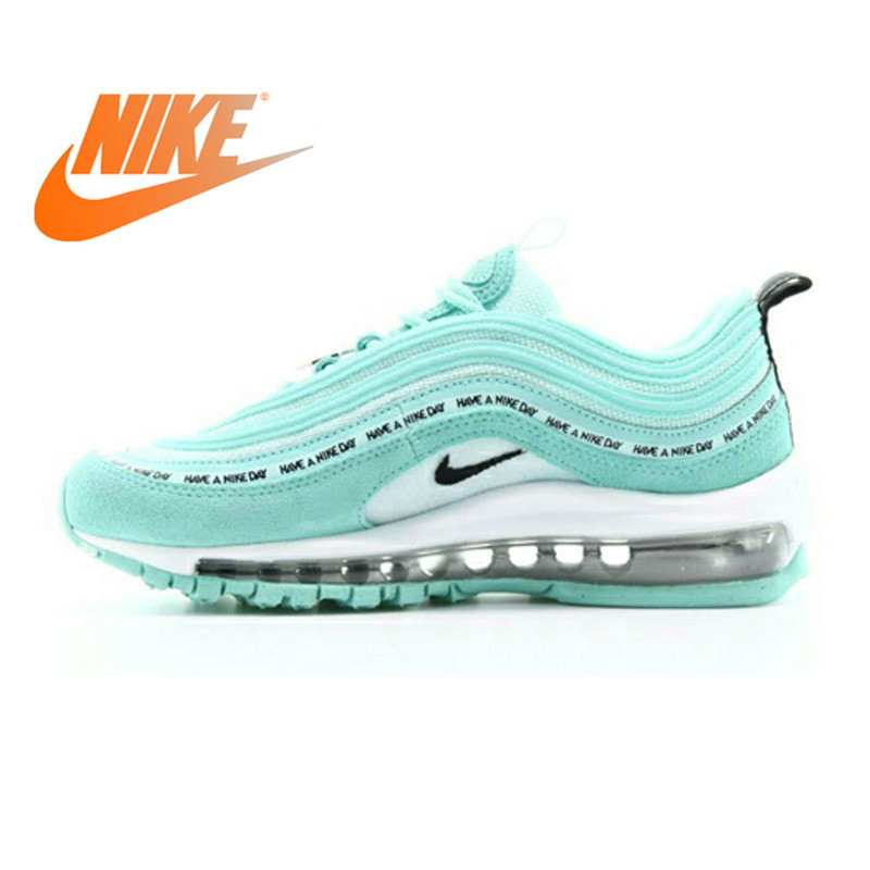 Original Authentic Nike Air Max 97 Women's Running Shoe Sneakers Shock Absorbing Good Quality Comfortable New Arrival 923288-300