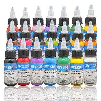 Tattoo New Design 21 Basic Colors Tattoo Ink Set Pigment Kit 1oz Professional Tattoo Supply For Tattoo Color Beauty Art  tool