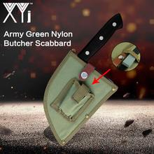XYj Chef Coltelli Da 6.5 pollici Affettare Mannaia Chopper Coltello Sashimi Forgiato Macellaio Accessori Per La Cucina Con Bellezza Army Green Guaina(China)