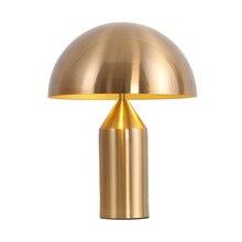 Lámpara de mesa minimalista de estilo nórdico, Arte con personalidad, sala de estar, comedor, dormitorio, junto a la cama, decoración de escritorio con forma de seta de Metal