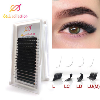 L//LC/LD/M curl Mix L Lash,L Eyelash,L Curl Eyelash Extension Individual Soft Lashes 8-15mm Faux Mink Eyelashes